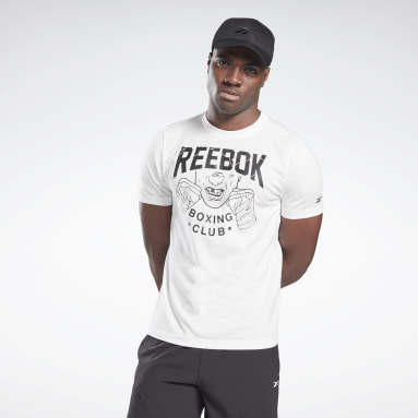 Men Cross Training White Reebok Boxing Club T-Shirt