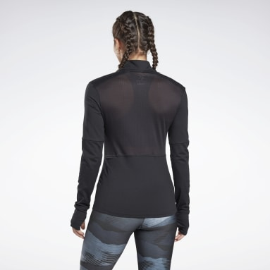 Buzo Running Essentials Quarter-Zip Negro Mujer Running