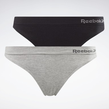 Frauen Fitness & Training Reebok Kali Seamless Thong – 2er-Pack Grau