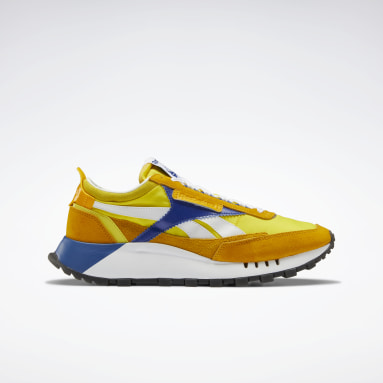 Classics Yellow Classic Leather Legacy Shoes