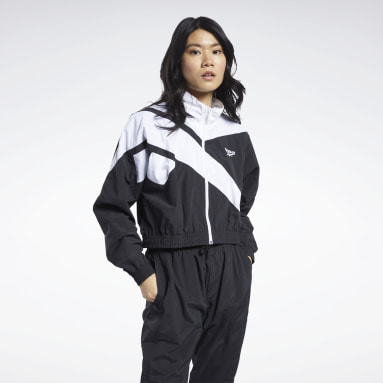 Women Classics Black Classics Vector Cropped Track Jacket