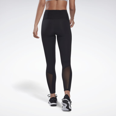 Women Fitness & Training Black Reebok Lux Perform High-Rise Leggings