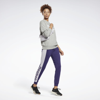 Pantalone Linear Logo French Terry Viola Donna Fitness & Training