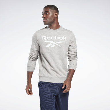 Mænd Fitness & Training Grey Reebok Identity Big Logo Crew