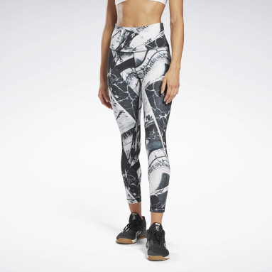 Mallas Workout Ready Printed Negro Mujer Yoga