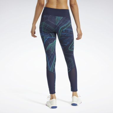 Women Cross Training Blue Lux Perform Technical Twist Tights