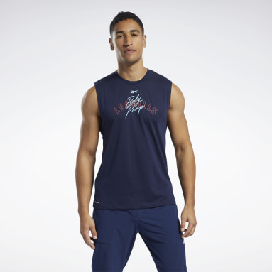 Men Pilates Blue Les Mills® BodyPump® Tank Top