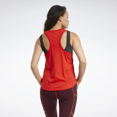 Women Training Red MYT Reebok Tank Top