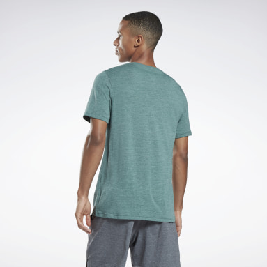 Men Hiking Green Activchill+Cotton T-Shirt