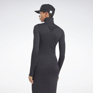 Women Fitness & Training Black VB Seamless Long-Sleeve Top Long-Sleeve Top