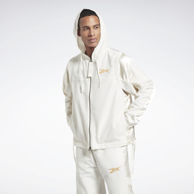 Men Fitness & Training White Cottweiler Convertible Jacket