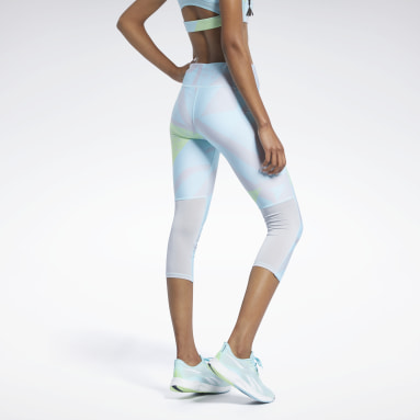 Dames Trail Running Run Essentials Allover Print 3/4 Legging