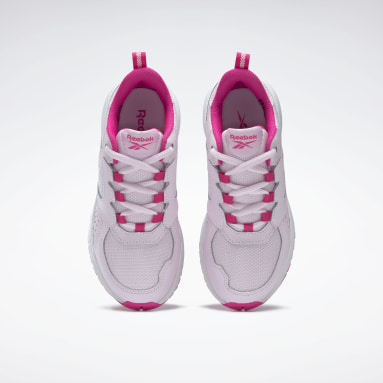 Girls Running Pink Reebok Road Supreme 2 Shoes - Preschool