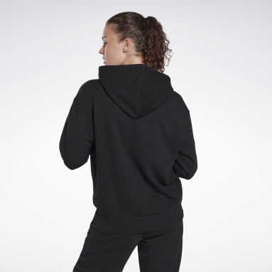Women Fitness & Training Black Reebok Identity Logo French Terry Hoodie