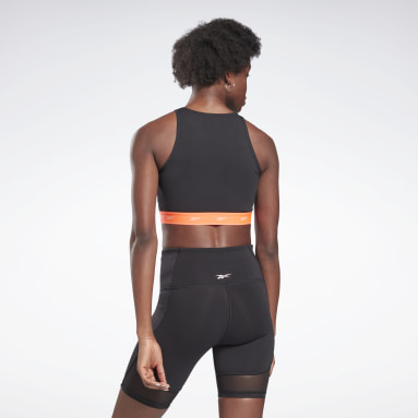 Women Pilates Black Beyond the Sweat Crop Top