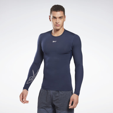 Men Cross Training Blue United by Fitness Compression Tee
