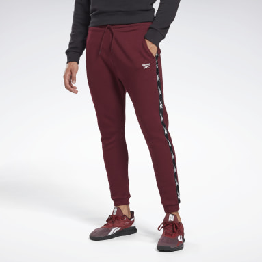Spodnie Training Essentials Tape Jogger Bordowy