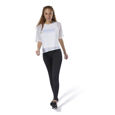 Women Fitness & Training White WOR Meet You There Layering Tee