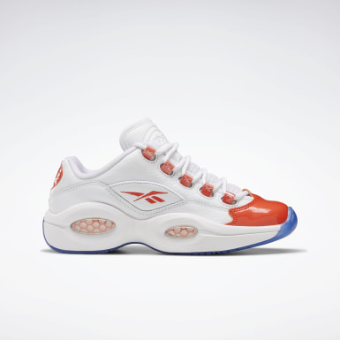 Kids Classics White Question Low - Grade School Basketball Shoes