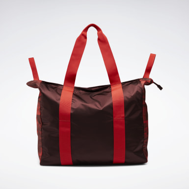Women Training Red Tech Style Graphic Tote