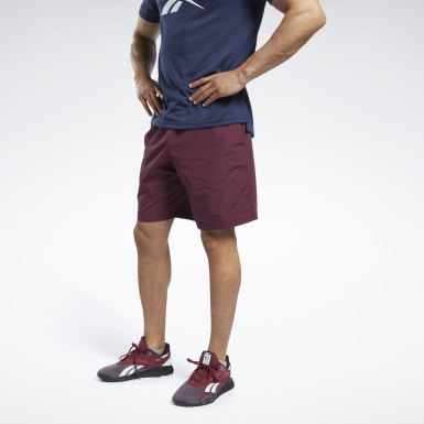 Men Fitness & Training Burgundy Training Essentials Utility Shorts