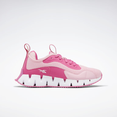 Kids Running Pink Zig Dynamica Shoes