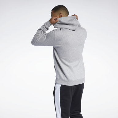Men Training Grey Training Essentials Big Logo Hoodie