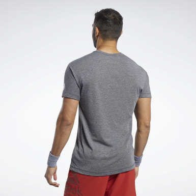 Men Cross Training Black Reebok CrossFit® ACTIVCHILL+COTTON Tee