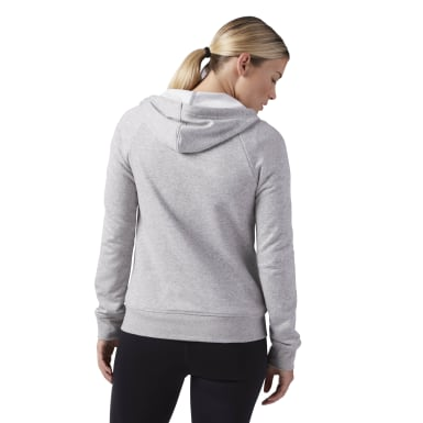 Sudadera Elements French Terry Full Zip Gris Mujer Fitness & Training