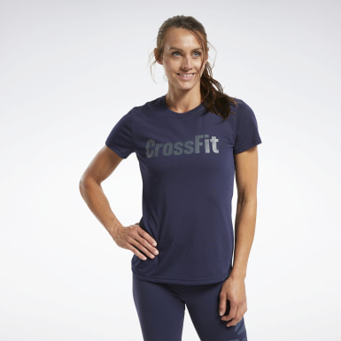 Women Cross Training Blue Reebok CrossFit® Read Graphic Tee