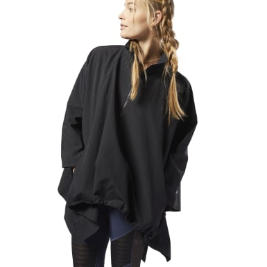 Women Yoga Black Training Supply Woven Jacket