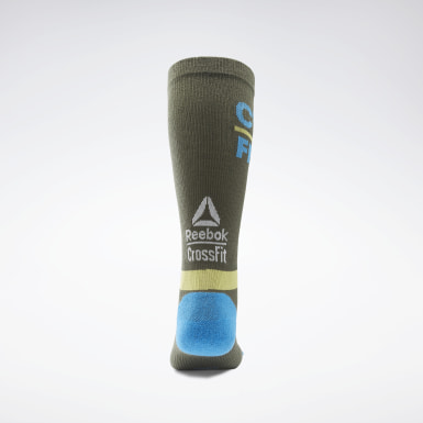 Cross Training Green CrossFit® Printed Crew Socks