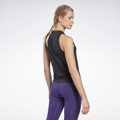 Canotta Modern Safari Big Logo Nero Donna Fitness & Training