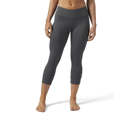 Women Fitness & Training Grey Lux 3/4 Legging