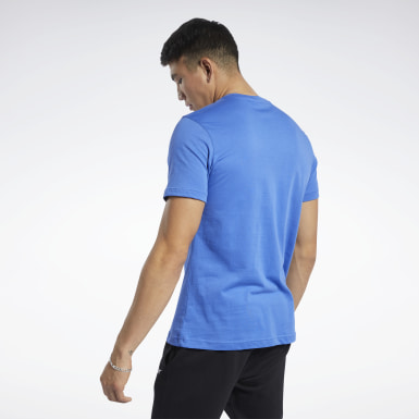T-shirt Graphic Series Linear Logo Bleu Hommes Fitness & Training