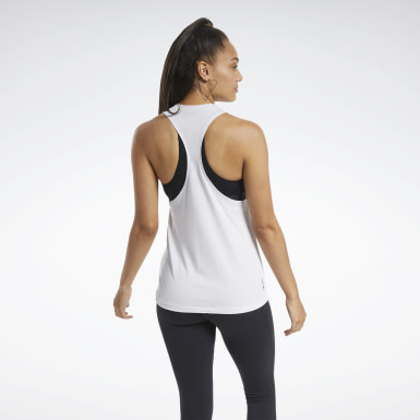 Women Training White ACTIVCHILL+COTTON Graphic Tank Top