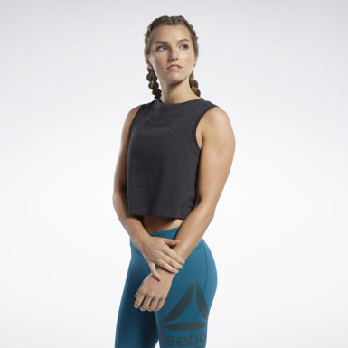 Frauen Cross Training Reebok CrossFit® Crop Top Schwarz