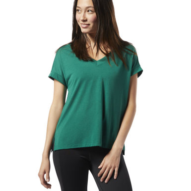 Women Fitness & Training Green WOR Supremium Detail Tee