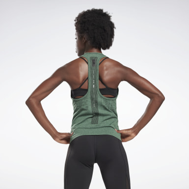 Women Studio Green LES MILLS® Myoknit Seamless Tank Top