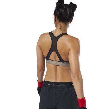 Women Combat Grey Combat x InFightStyle Medium-Impact Bra