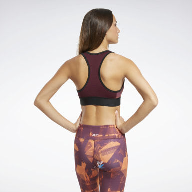 Women Cycling Burgundy MYT Low-Impact Printed Sports Bra