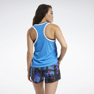 Women Fitness & Training Blue MYT Reebok Tank Top