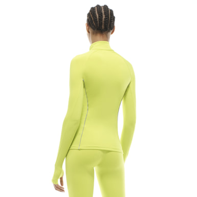 Women Training Yellow VB Half-Zip Running Top