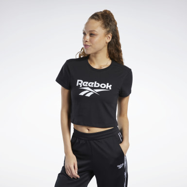 Women Classics Black Classics Vector Crop Top