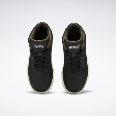 Boys Classics Black Reebok BB4500 Court Shoes
