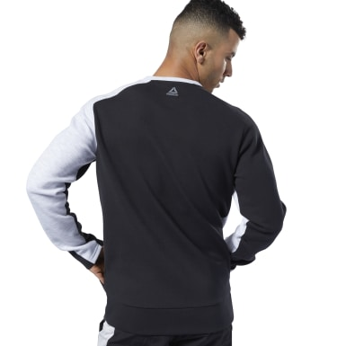 Men Fitness & Training Black One Series Training Colorblock Sweatshirt