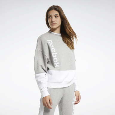Women Fitness & Training Grey Training Essentials Logo Crew Sweatshirt