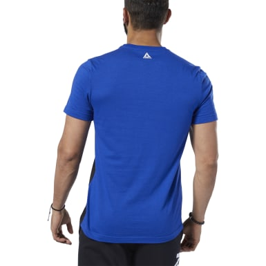 Remera Training Essentials Linear Logo Azul Hombre Fitness & Training
