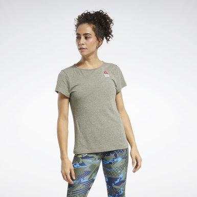 Dames Crosstraining Groen Reebok CrossFit® Games ACTIVCHILL+COTTON T-shirt