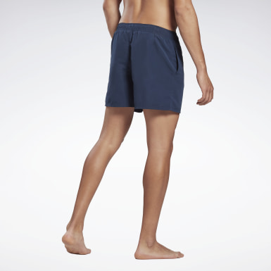 Mænd Swimming Blue Woven Swim Shorts